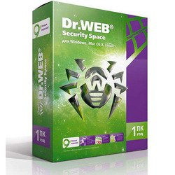 DR.Web Security Space 1 ПК 1 год  (BHW-B-12M-1-A3)